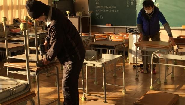 天板寄贈~木望(きぼう)の未来プロジェクト~ 交換作業