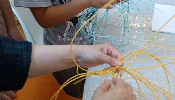 ひるままくらぶ♪夏休み☆籐で編むコースター作り教室